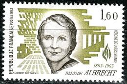 A13-19-9) Frankreich - Mi 2417 = Y 2294 - ** Postfrisch (A) - 160c       Berthie Albrecht - Unused Stamps