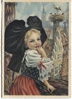 CPSM - ILLUSTRATION HOMUALK - En Parcourant  ALSACE - Petite Alsacienne ... - Editions Artaud Gaby /N°26 - Homualk
