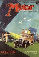 Austin Big Six    -   Magazine Cover Advert  -  Carte Postale - Voitures De Tourisme