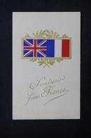 MILITARIA - Carte Postale - Drapeaux Franco / Anglais - L 24067 - Patriotiques