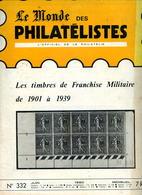 Le Monde Des Philatelistes N.332, Juin 1980,carte Postale Impression,FM 1901-39,automation Courrier,Djibouti 1983-1903, - Revistas