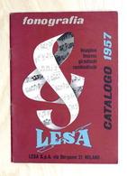 Musica - Catalogo LESA 1957 - Fonografia - Giradischi - Cambiadischi - Lesavox - Advertising