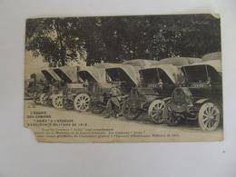 L'EQUIPE DES CAMIONS ARIES A L'EPREUVE D'ENDURANCE MILITAIRE 1913 - Matériel