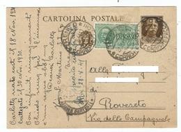 1941, Cartolina Postale Espresso - 30.cent + 1,25 Lire - 1900-44 Vittorio Emanuele III