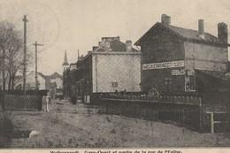 WELKENRAEDT, Gare Ouest Et Partie De La Rue De L'église ; Passage à Niveau ,train - Welkenraedt