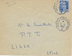 Convoyeur Alès à Clermont-fd  1954 - Poste Ferroviaire
