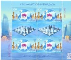 2016. Kyrgyzstan, 42th Chess Olympiad Baku'2016, Sheetlet, Mint/** - Kirghizistan