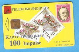 ALBANIA  Chip Phonecard  STAMP - Albanië