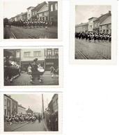 Les Pompiers De Leuze Défilent à Jolimont Bifurcation (La Louvière) En Juin 1947 - Berufe