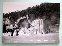 Cliché 180x130 Démolition  Maison Garde Barrière D'EZY Eure 1996 Ligne Mantes-Dreux - Chemins De Fer