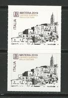 2019 ITALIA - Matera Capitale Europea Della Cultura - COPPIA - Adesivo - 2011-...:  Nuevos