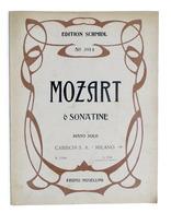 Musica Spartiti - Mozart - 6 Sonatine - Schmidl N. 3914 - Piano - Carisch 1939 - Vecchi Documenti