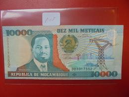 MOZAMBIQUE 10.000 METICAIS 1991 PRESQUE NEUF - Mozambique