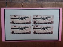 RUSSIA 1937 - Expo Giubileo Aviazione Sovietica - BF 3 Non Dentellato - Timbrato + Spedizione Raccomandata - Blocchi & Fogli