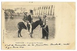 """SAINT-CYR Groupe Du Triomphe Ed. Marot """"C'est Le Triomphe De La Promotion Bourbaki, Sortie Il Y A Deux Ans"""" Envoi 1901 - St. Cyr L'Ecole"""