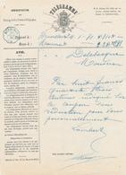 705/28 - Formule De TELEGRAMME BXL Vers MOUSCRON 1871 - Cachet Télégraphique BLEU à L' Arrivée - Telegraph