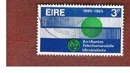 IRLANDA (IRELAND) -  SG 205   -    1965  U.I.T. CENTENARY  - USED - 1949-... Repubblica D'Irlanda