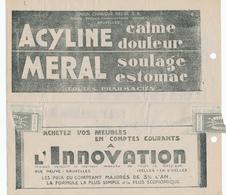 706/28 - Formule De TELEGRAMME Publicitaire Bruxelles 1931- Médicaments En Pharmacies Et Innovation - Telegraph