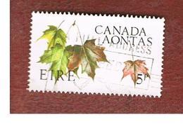 IRLANDA (IRELAND) -  SG 231   -    1967  CANADIAN CENTENNIAL: MAPLE LEAVES  - USED - Usati