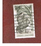 IRLANDA (IRELAND) -  SG 237   -    1967 J. SWIFT, WRITER  - USED - 1949-... Repubblica D'Irlanda