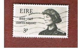 IRLANDA (IRELAND) -  SG 243   -    1968  COUNTESS MARKIEWICZ,  PATRIOT   - USED - 1949-... Repubblica D'Irlanda
