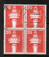 GERMANY  Scott # 1172  VF USED BLOCK Of 4 (Stamp Scan # 464) - [7] Federal Republic