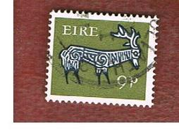 IRLANDA (IRELAND) -  SG 256   -    1968   STYLIZED  STAG    9 P   - USED - 1949-... Repubblica D'Irlanda