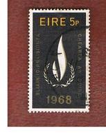 IRLANDA (IRELAND) -  SG 263   -    1968   HUMAN RIGHTS   - USED - 1949-... Repubblica D'Irlanda