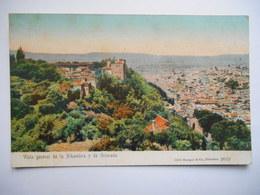 """CPA """"Vista General De La Alhambra Y De Granada"""" - Granada"""