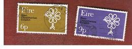 IRLANDA (IRELAND) -  SG 274.275   -    1970  EUROPEAN CONSERVATION YEAR  (COMPLET SET OF 2)   - USED - 1949-... Repubblica D'Irlanda