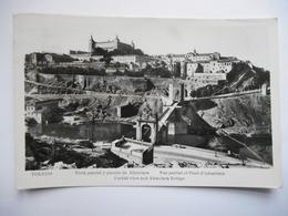 """CPSM """"Toledo - Vista Parcial Y Puente De Alcantara"""" - Toledo"""