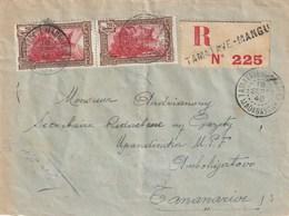 MADAGASCAR LETTRE RECOMMANDEE 1940 TAMATAVE MANGUIERS Pour TANANARIVE - Madagascar (1889-1960)