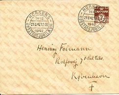 Denmark Cover Horsens 21-6-1942 (Horsens Köbstad 500 Anniversary 1442 - 1942) - 1913-47 (Christian X)