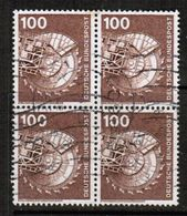 GERMANY  Scott # 1179  VF USED BLOCK Of 4 (Stamp Scan # 464) - [7] Federal Republic