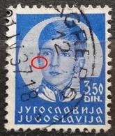 KING PETER II-3.50 D-ERROR - LINE -RARE - YUGOSLAVIA - 1935 - 1931-1941 Kingdom Of Yugoslavia