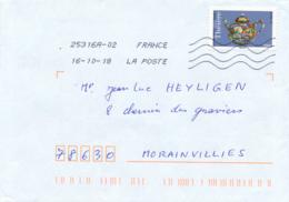 """2018 : Timbre Postal Adhésif """"Théière, Chine"""", Seul Sur Lettre - 1961-...."""