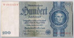 BILLET DE BANQUE D'ALLEMAGNE 100 REICHSMARK Du 24 Juin 1935 N° T.5935419 état TTB - [ 4] 1933-1945 : Troisième Reich