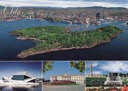 1 AK Norwegen * Sehenswürdigkeiten Von Oslo – Die Oper – Das Schloss – Der Vigeland Park Und Eine Insel (ev. Hovedøya) * - Norvège