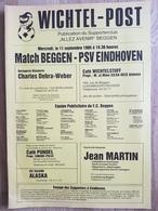 Programme Football Programma Avenir Beggen - PSV, 11 September 1985 UEFA Cup - Boeken