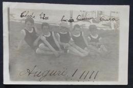 BOY GARCON Boys S-nude In Old Mankini Swimsuit By Beach - Garcon Demi-nue En Maillot De Bain La Pêche - Photo PC 1930' - Anonymous Persons