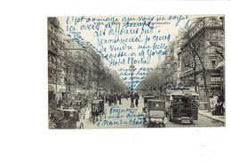 Cpm - 75 - PARIS - Boulevard Montmartre - Tramway Calèche Voiture Publicité Brasserie MAXEVILLE Bougie L'Etoile - Tramways