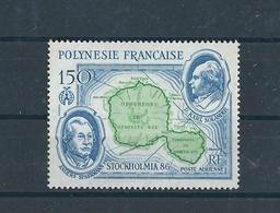 FRENCH POLYNESIA, 1986 Stockholmia'86, Map 1v MNH - Neufs