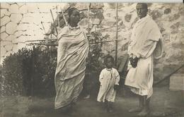 ERITREA -TIPI DELLA COLONIA -FOTOCARTOLINA - FAMIGLIA ABISSINA -FP - Eritrea