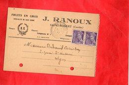 F0403 - Fruits En Gros - J. RANOUX - Carte Livraison - Commerce