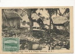 Dominica , Negro Huts In A Village B.W.I.  Edit Pinard  Sries Phillip P. Used To Paris - Dominique