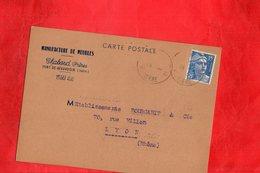 F0403 - Manufacture De Meubles - CHABOUD Frères - Carte Commande - Commerce