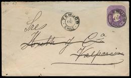 CHILE - Stationery. 1898. Temuco - Valp. 5c Stat Env. VF. - Chile