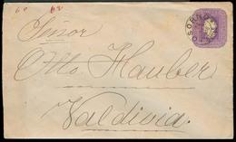 CHILE - Stationery. 1898. Osorno - Valp. 5c Stat Env. VF. - Chile