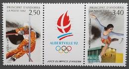 Andorre - YT N°414A - Jeux Olympiques D'hiver à Albertville / Sport - 1992 - Neuf - Andorra Francesa