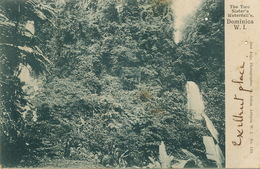Dominica  The Two Sister's Waterfall's W.I. P. Used To Barbados  Undivided Back Leeward Islands Edit José Anjo Antigua - Dominique